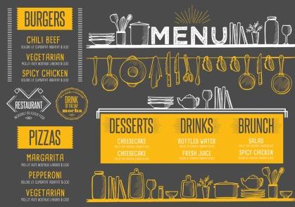 Flyer restaruant menu