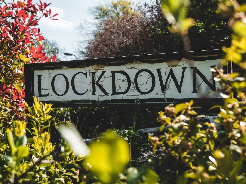 Life with Covid19 - Lockdown sign